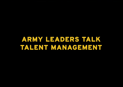 Army Leaders Talk Talent Management
